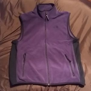North Face Purple Vest Large